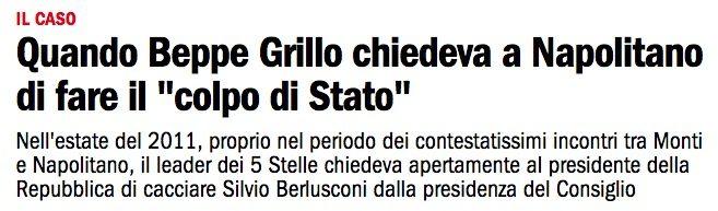 Quando Beppe Grillo chiedeva il colpo di Stato