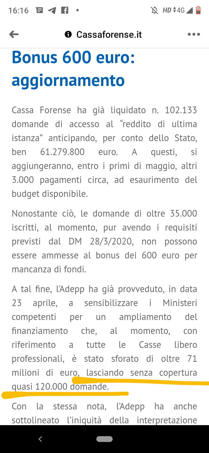 120.000 Partite Iva stanno ancora aspettando i 600 € di marzo! Conte si dimetta immediatamente! (di G. PALMA)