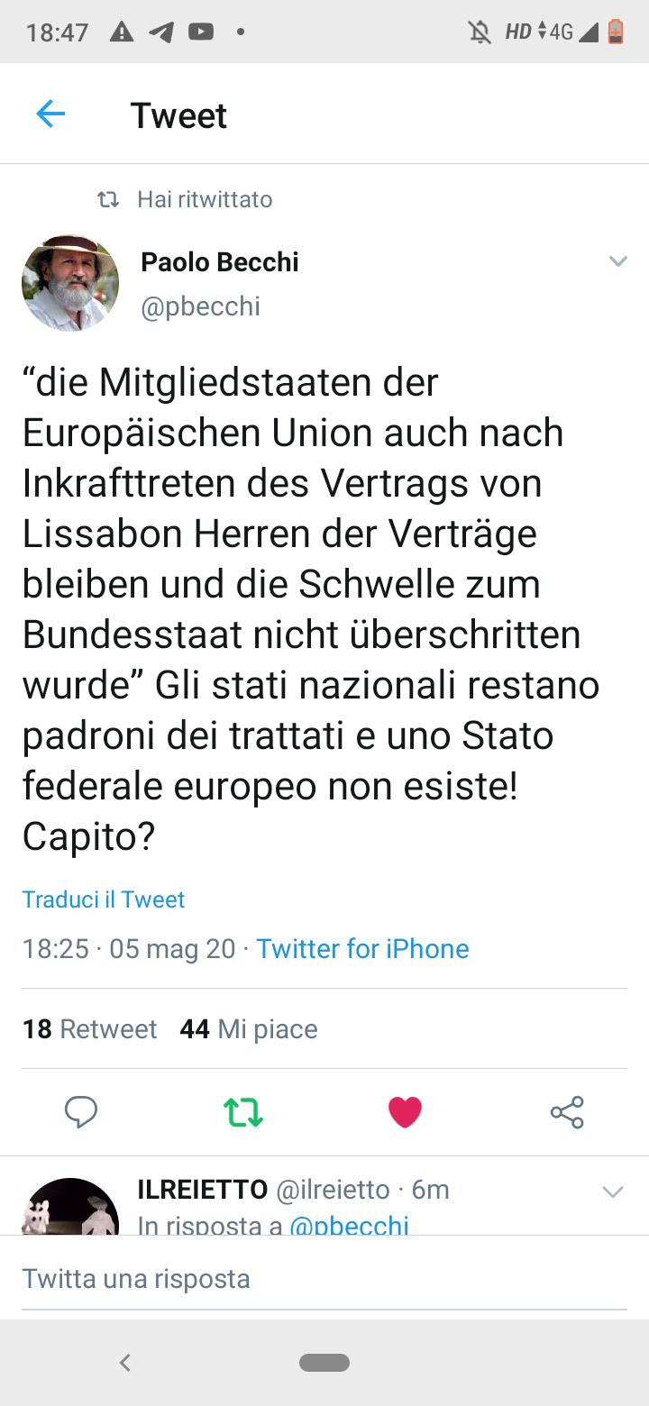 La corte tedesca sancisce la supremazia dello Stato nazionale sui Trattati europei (traduzione di P. Becchi)