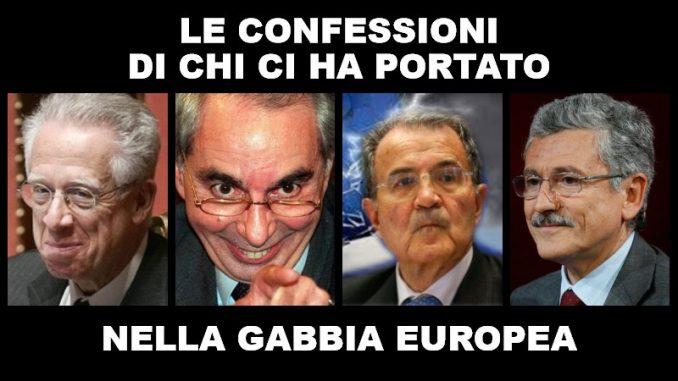 Le confessioni dei padri dell'euro: Padoa-Schioppa, Amato, Prodi e D'Alema