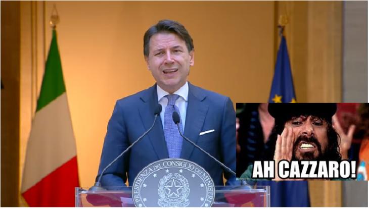 LA CERTEZZA DEL CAZZARO ED IL PONTE DI MESSINA: l'ennesimo discorso autocelebrativo di Conte