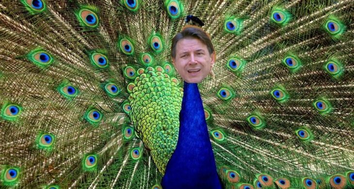 Giuseppe Conte, the Peacock who is throwing Italy through the drain