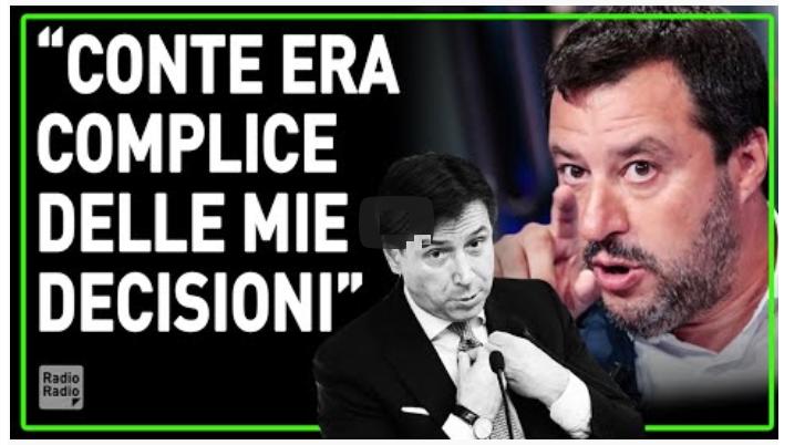 Salvini: «Conte era complice, ma mi fanno un processo politico»