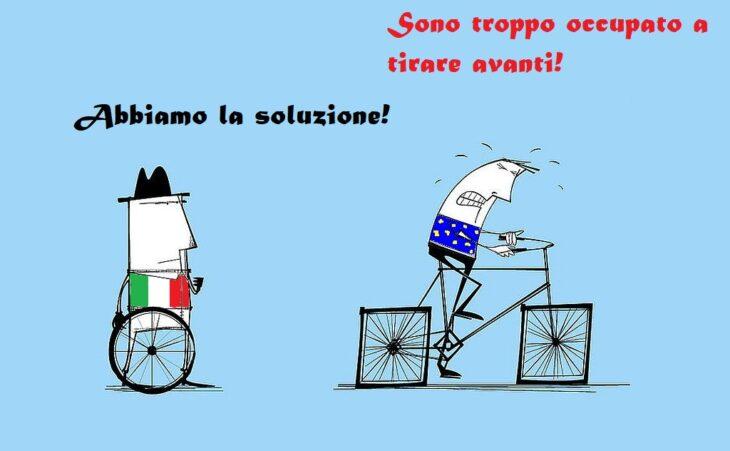 Corri, italiano. Corri e diventa povero.