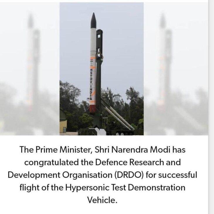 India testa vettore ipersonico mentre cresce la tensione con la Cina. Spari al confine