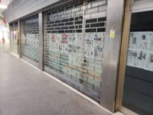 Thiene (alto vicentino) il centro storico è invaso dalle vetrine vuote.