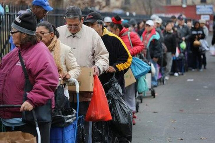 Almeno un milione di Newyorkesi frequenterà le mense dei poveri