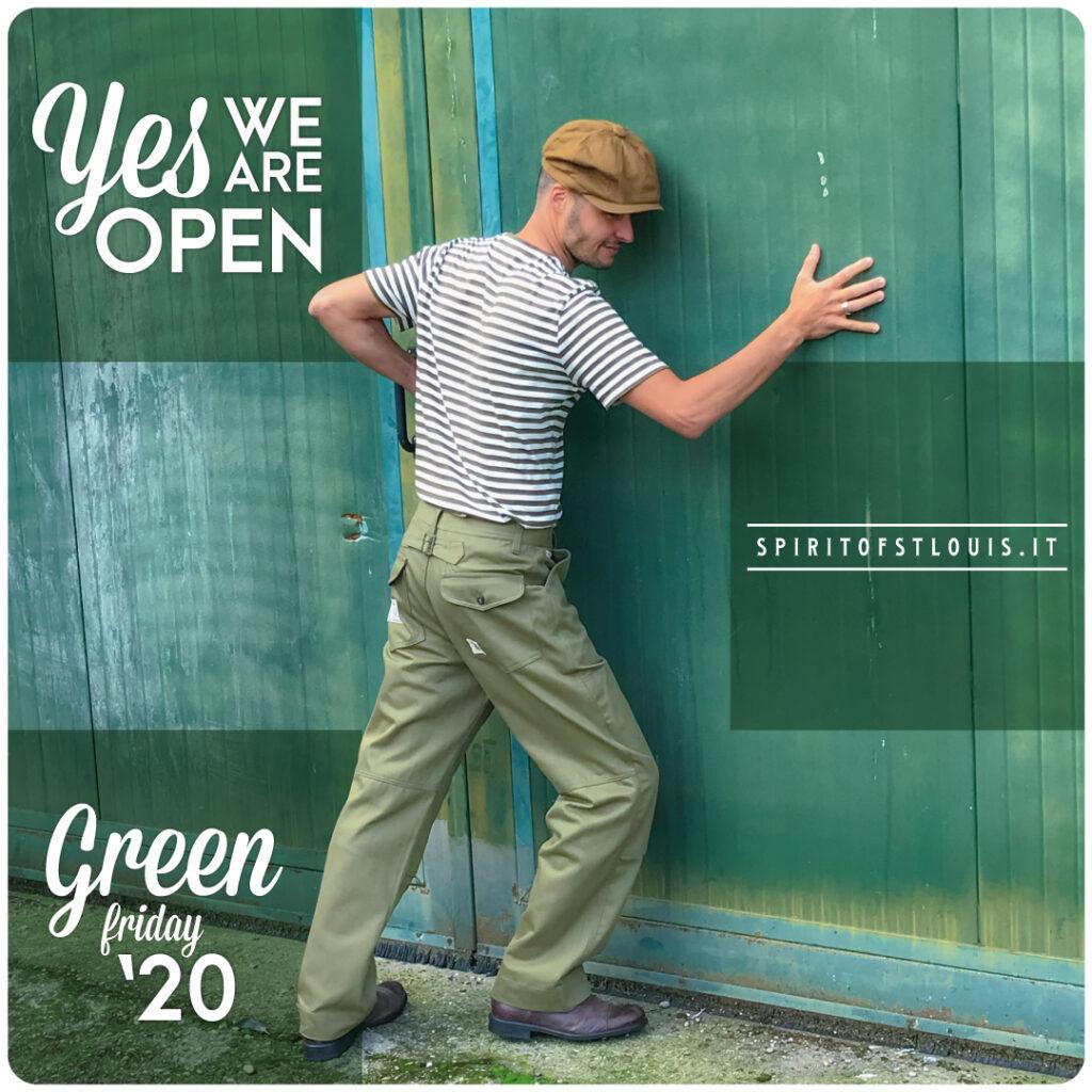 Spirit of St. Louis lancia apre il proprio negozio online di moda lanciando un appello per il green friday