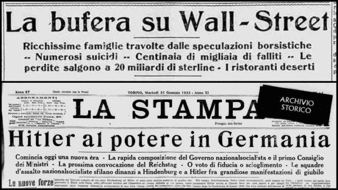 Dal crollo di Wall Street all'ascesa di Hitler: i dati su disoccupazione e inflazione