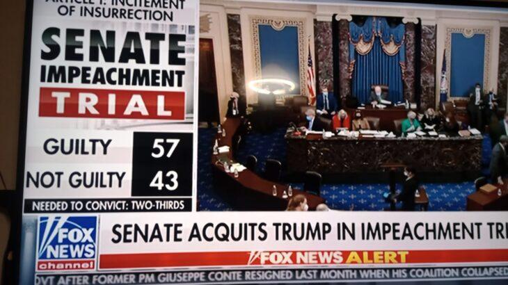 TRUMP Prosciolto dall'impeachment 57 a 43. Fine della storia per la seconda volta