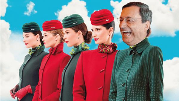 Vi spiego perché anche Draghi salverà Alitalia con soldi pubblici