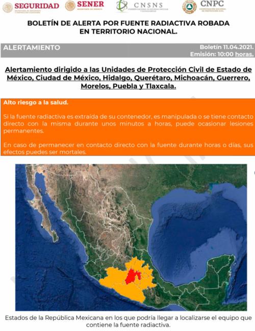 Materiale altamente radioattivo rubato in Messico: pericolo bomba sporca?
