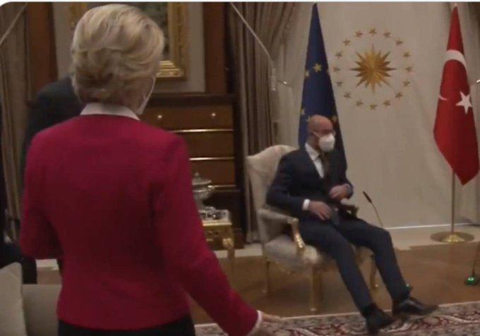 Erdogan umilia la Von Der Leyen e la lascia.. in piedi. Chi agnello si fa il turco se lo mangia…