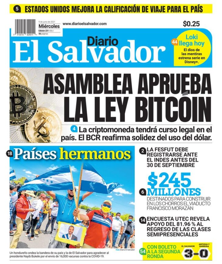"El Salvador rende Bitcoin ""Valuta di corso legale"", con anche mining ""Verde"""
