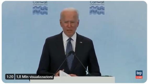 Un confuso Biden scambia la Siria per la Libia. Si sarà iscritto al M5s ?