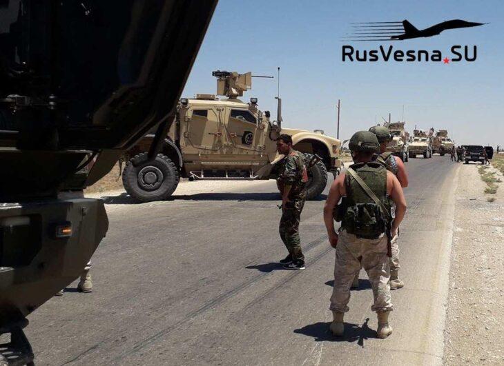 Soldati russi fanno fare retrofront agli americani in Siria