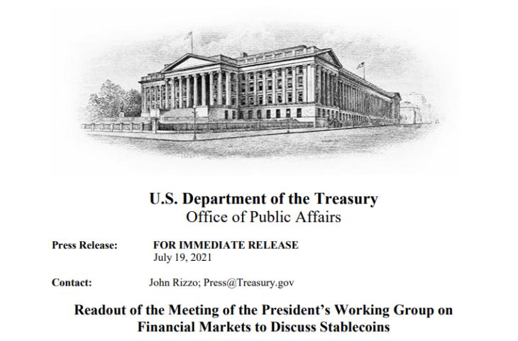 Il governo USA sta studiando una regolamentazione per le stable coin