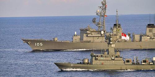 Giappone e USA compiono esercitazioni navali segrete in preparazione di una guerra Cina Taiwan