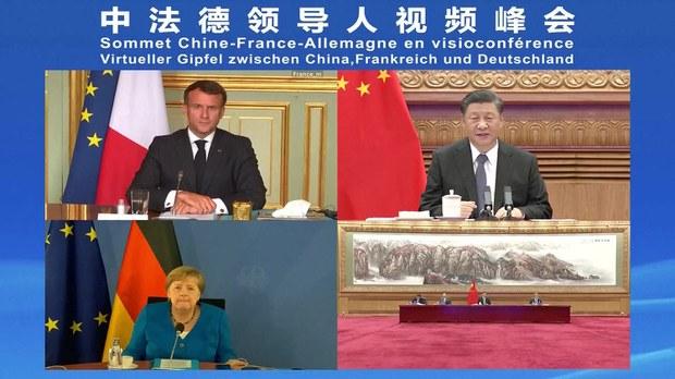 Merkel e Macron si fanno pupazzi nelle mani dei media cinesi