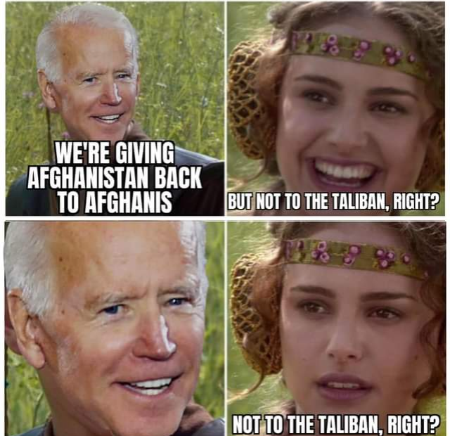 Biden ed il discorso sull'Afghanistan: la colpa è di tutti, tranne che mia. Sembra un Conte qualsiasi
