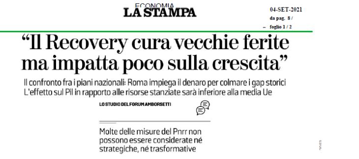 """Il PNRR? Non impatterà sulla crescita italiana. L'""""Excusatio non petita"""" de La Stampa"""