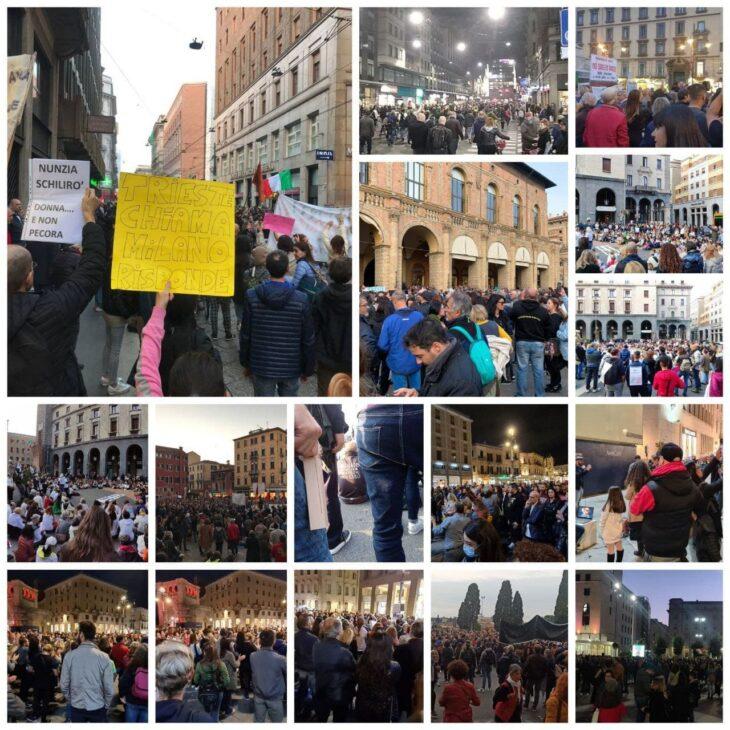 """Proseguono le manifestazioni contro il Green Pass. La Lamorgese ha ridicolizzato le FFOO con il """"Movimento Ondulatorio"""""""
