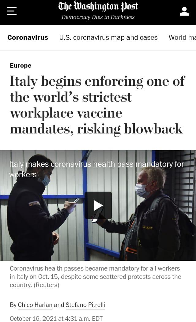 """""""Italia, esperimento sociale"""": come il Washington Post vede il nostro paese"""